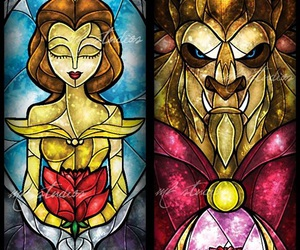 art, beast, and beauty and the beast image