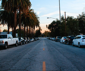 california, street, and car image