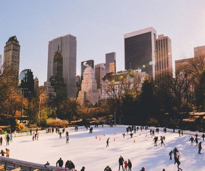 winter, city, and new york image