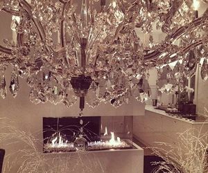 luxury, decor, and chandelier image