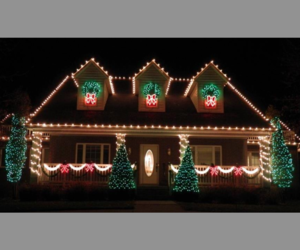 christmas, decorations, and lights image