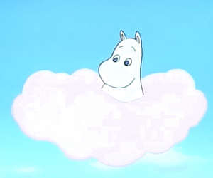 anime, moomin, and sky image
