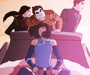 mako, asami, and the legend of korra image