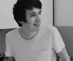 black and white, dan howell, and boy image