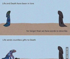 death, life, and love image