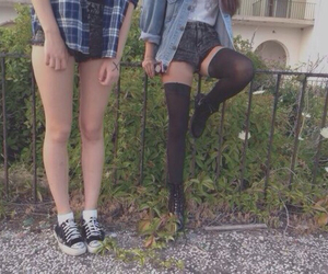 girls, grunge, and outfit image