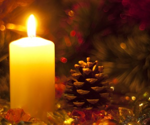 candle, new year, and fir-cone image