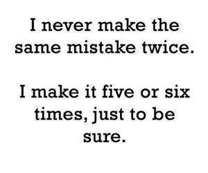 quote, mistakes, and funny image