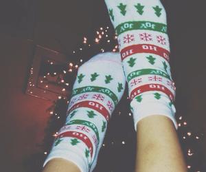 christmas, christmas tree, and christmas socks image