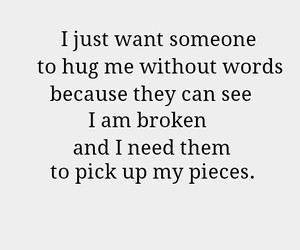broken, hug, and quote image