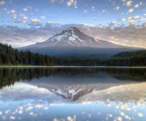 mountains, oregon, and reflection image