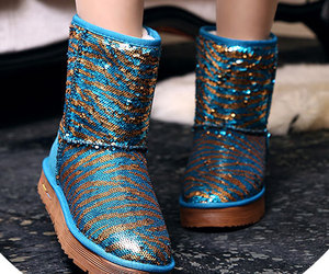 blue, boots, and brown image