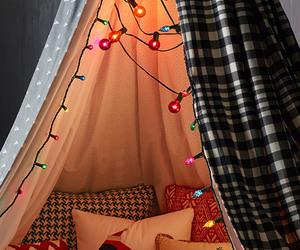 christmas, lights, and pillow image
