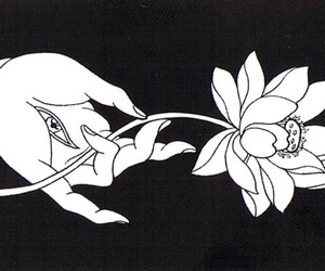 flowers, eye, and hand image