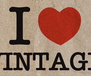 vintage, heart, and i love image