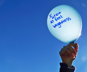 quote, balloon, and weightless image