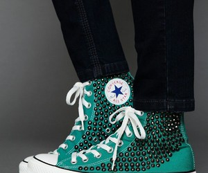 all-star, blue green, and studs image