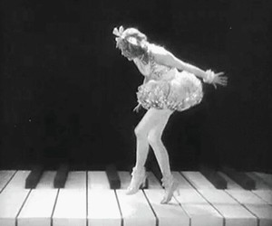black and white and piano image