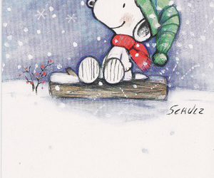 snoopy, christmas, and winter image