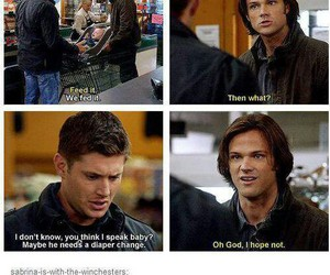 supernatural, funny, and baby image