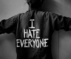 hate, girl, and everyone image