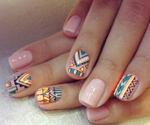 tribal and nailart image