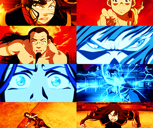 aang, zuko, and katara image
