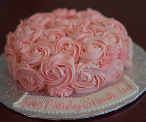 cake, floral, and romantic image