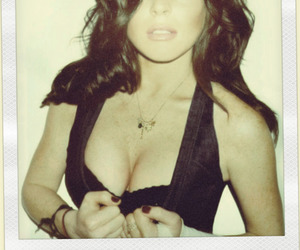 lindsay lohan, polaroid picture, and sexy image