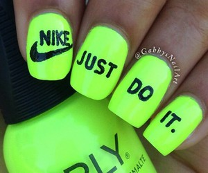 nike, nails, and Just Do It image