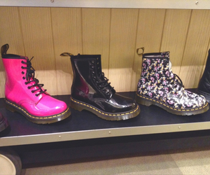 doc martens, dr. martens, and flowers image