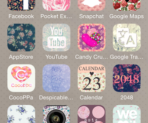 app, apple, and floral image