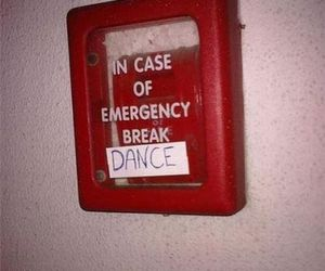 funny, dance, and emergency image