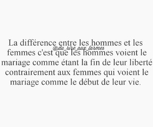 femme, homme, and mariage image