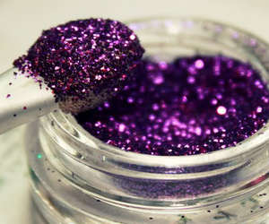 glitter, purple, and makeup image