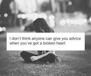 broken, alone, and sad image