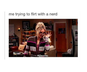 flirting, funny, and geek image