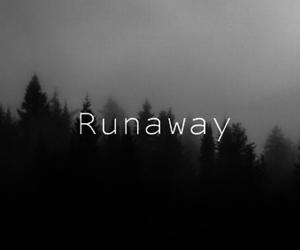 run, sad, and away image