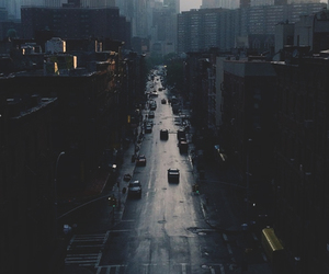 city, dark, and street image