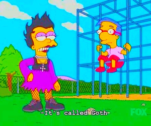 goth, simpsons, and grunge image