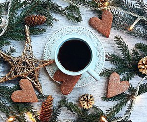 christmas, coffee, and home image