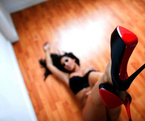 fashion, red shoes, and sexy image