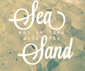 sea, sand, and love image