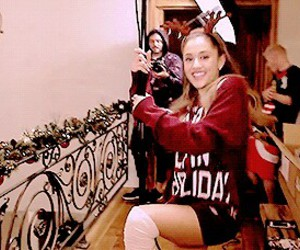 ariana grande and santa tell me image