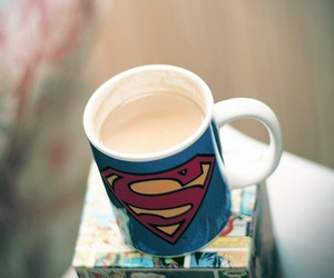 superman, cup, and mug image