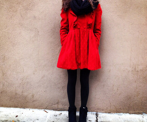 chilly, red, and coat image