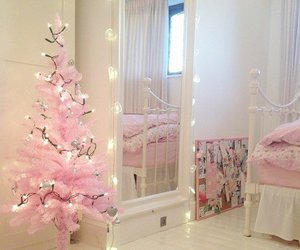 pink, christmas, and room image