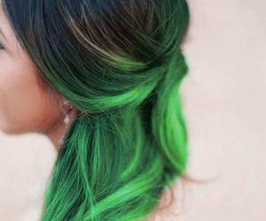 hair and green image