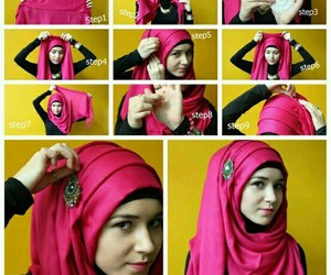 hijab and pink image