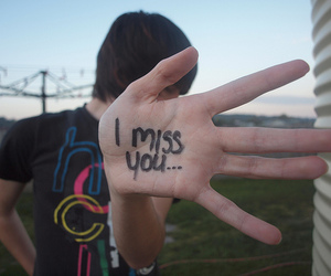 boy, i miss you, and hand image